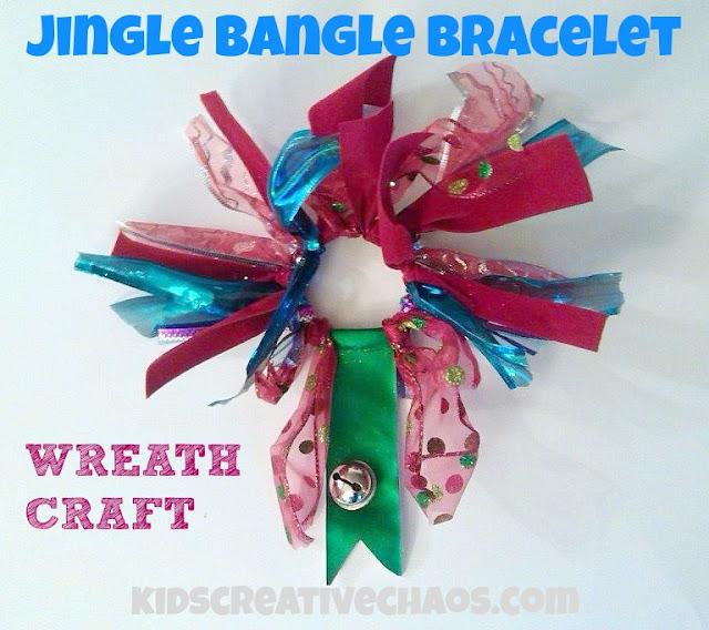 Preschool Bracelet Wreath Craft: Jingle Bangle Bracelet Wreath