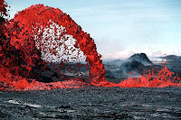 Dramatic Flow of  Lava in Hawaii
