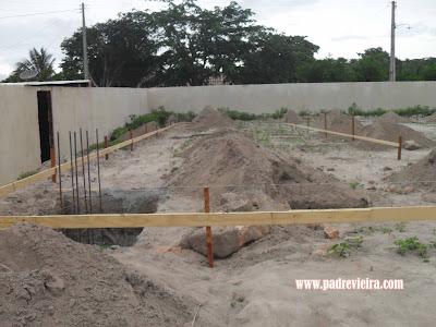 Construção da quadra poliesportiva de Padre Vieira