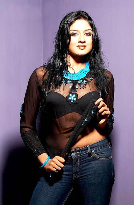 Vimala Raman Hot in Black Transparent Dress Pics