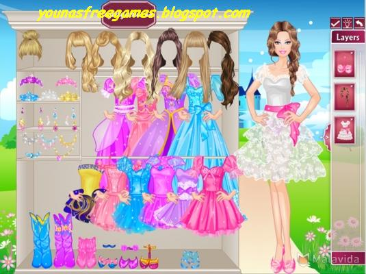 free online games barbie dress up