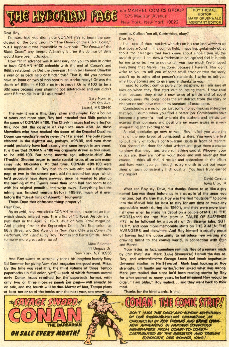 Conan the Barbarian (1970) Issue #103 #115 - English 20