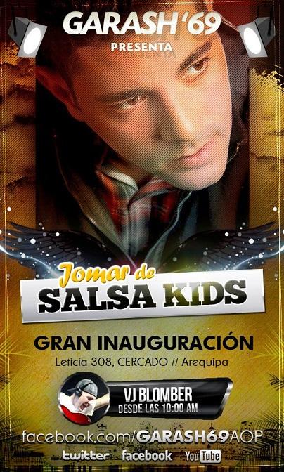 JOMAR SALSA KIDS EN INAUGURACION DE GARASH 69 (20 abril)