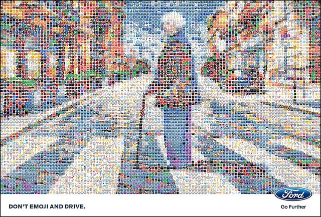 Don't emoji and drive! La campagna per renderci più responsabili alla guida.