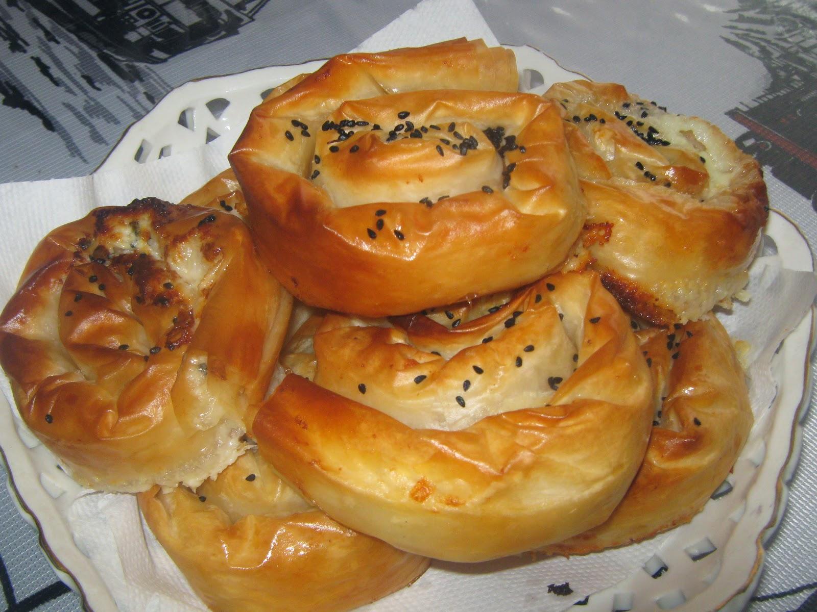 börek,peynirli börek,baklava yufkasından börek,çıtır börek,gül böreği