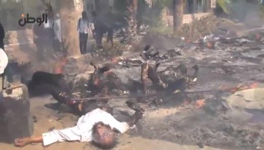 Kejam, Video Mayat Rakyat Mesir Hangus Dibakar Tentera As-Sisi