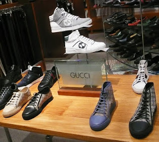 Gucci Rebound hightop and California GG PU Men's sneakers.