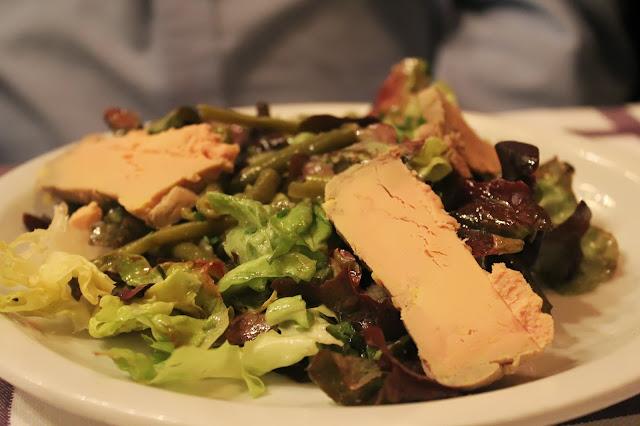 Foie gras salad at Auberge Pyrénées Cévennes