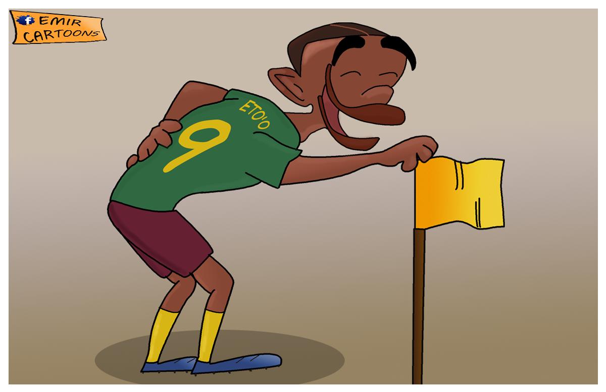Samuel Etoo, Etoo,karikature,fudbal,karikatura dana, emir balkan cartoons,emir cartoons, omar momani