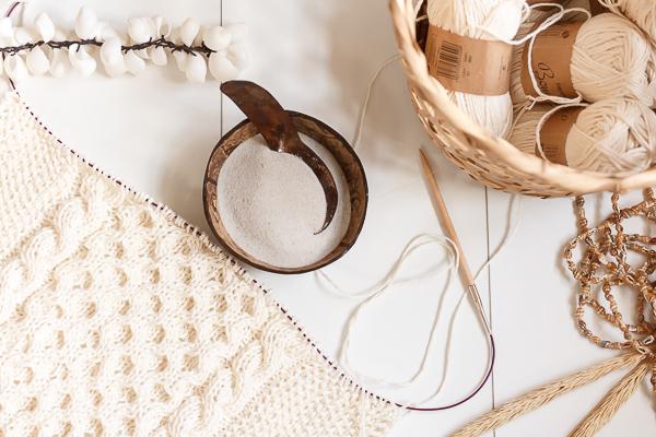 Amalie loves Denmark Sommerstrandstrickschal aus Baumwolle