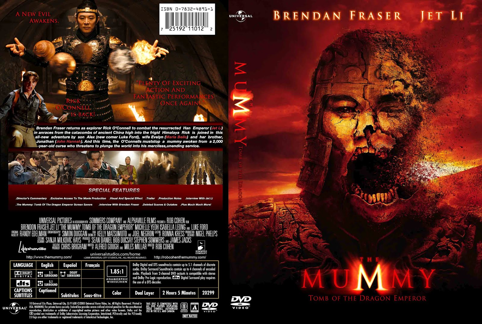 the mummy tomb of the dragon emperor 2008 movie cover