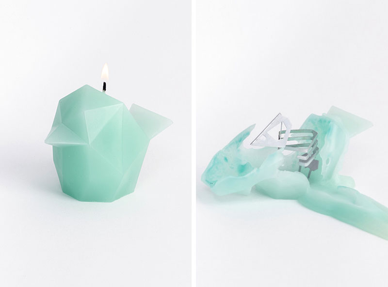 Candles With Hidden Metal Skeletons By Pyropet