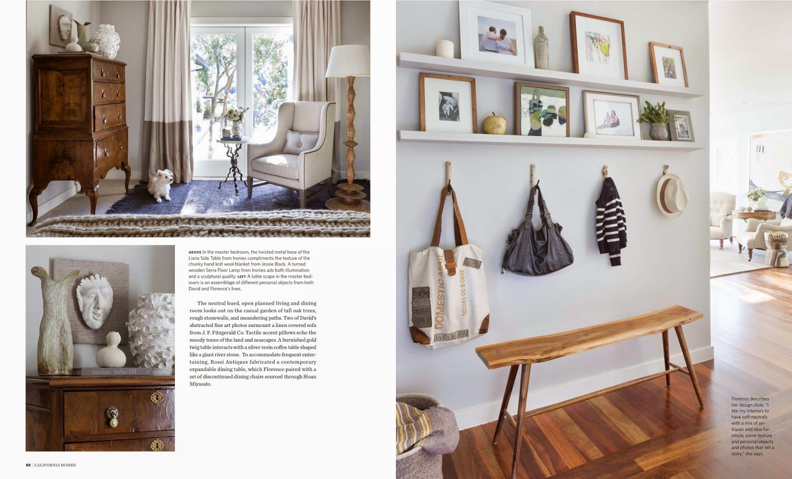 Posted By Kendra Boutell At 06:59. Labels: California Homes Magazine:  Photographer David Duncan Livingston And Designer Florence Choux Livingston