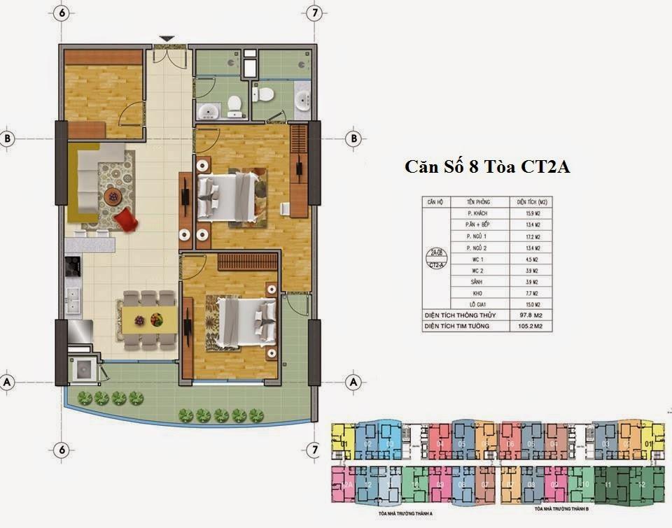 Mặt Bằng Chung Cư Tràng An Complex Tòa CT2A