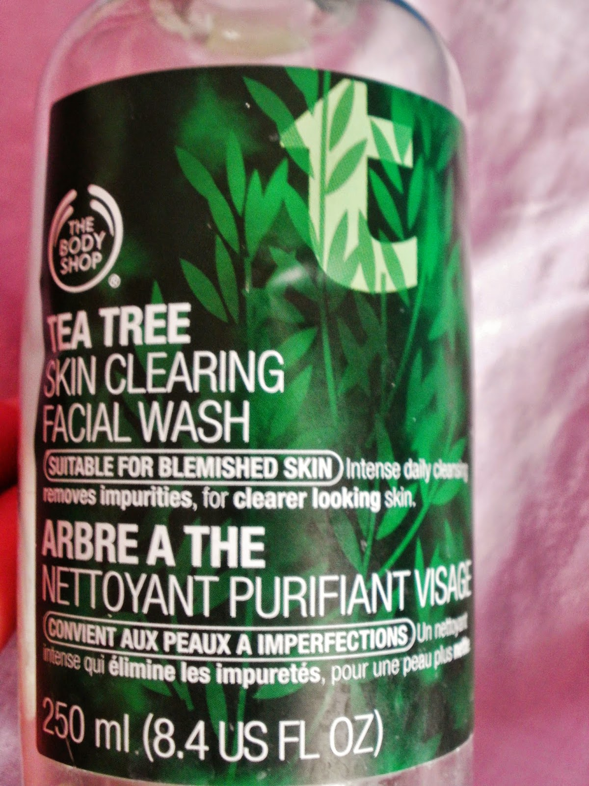 body shop tea tree facial wash