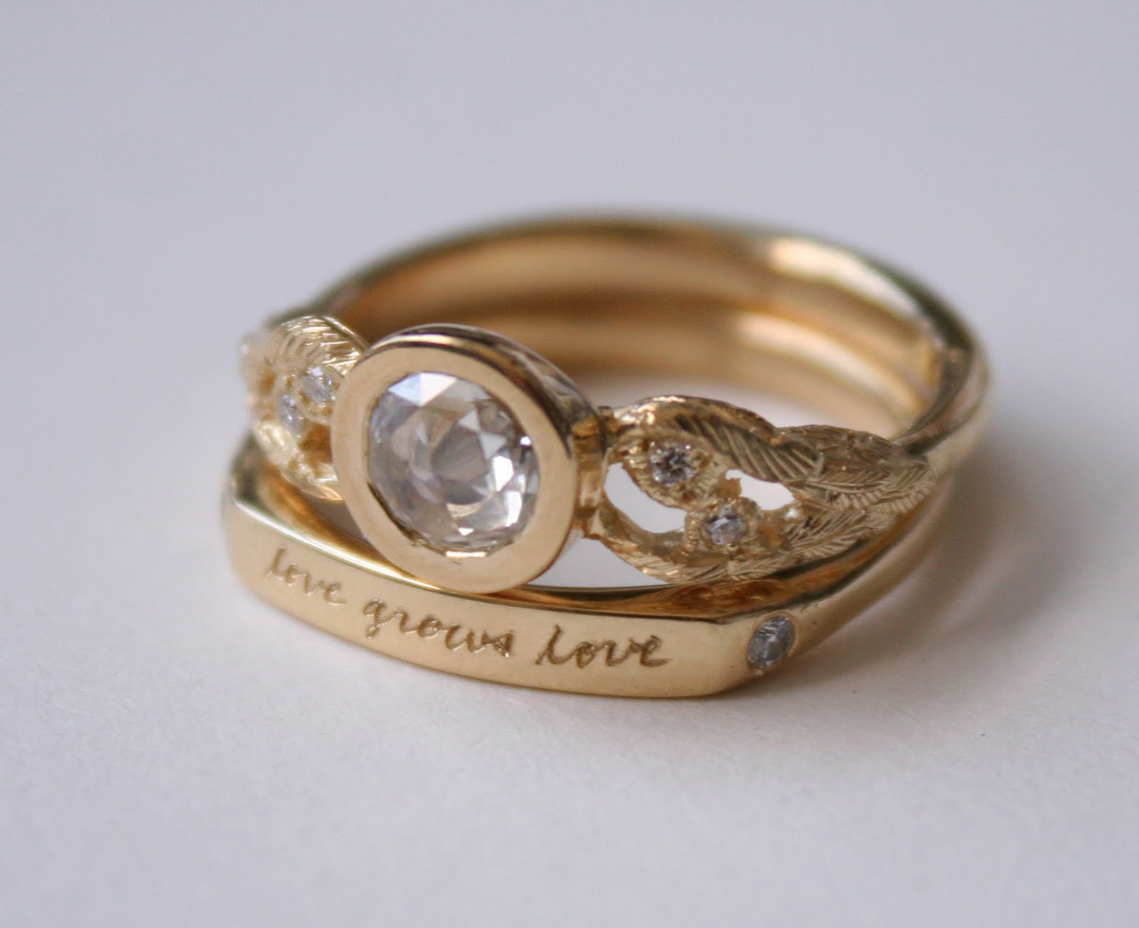 glimpse love grows love wedding ring set exclusive at twist in portland - Creative Wedding Rings