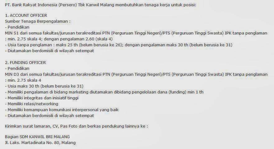 bursa-loker-malang-bumn-bank-bri-terbaru-april-2014