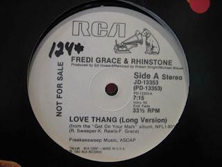 FREDI GRACE & RHINSTONE  -  Love Thang  1982 12 Inch