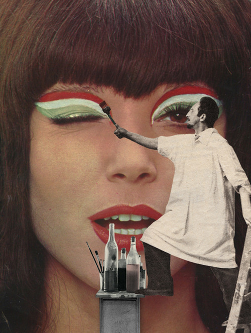 Doctor Ojiplatico. Sammy Slabbinck. Collage Art