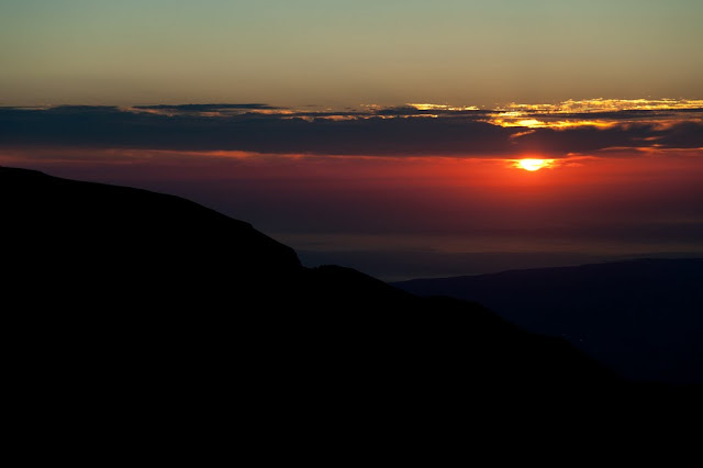 Alba dal Monte Amaro della Majella, verso l'Adriatico