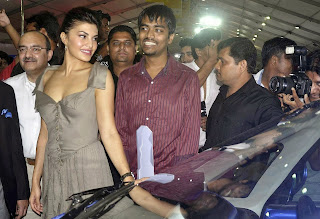 Actress Jacqueline Fernandez Pictures in Short Dress at Autocar Performance Show 2013  0016