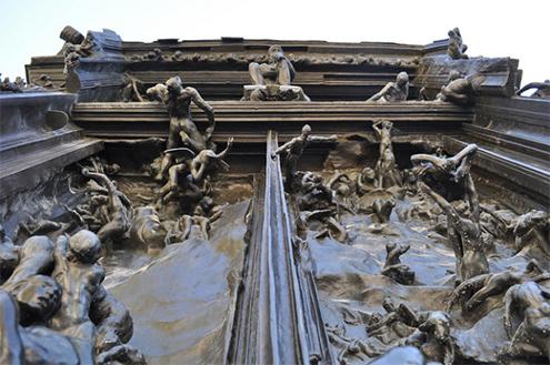 El pensador le penseur por auguste rodin bronce 1903 for 9 puertas del infierno