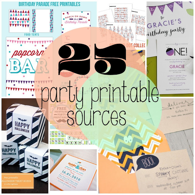 25 Party Printable Sources