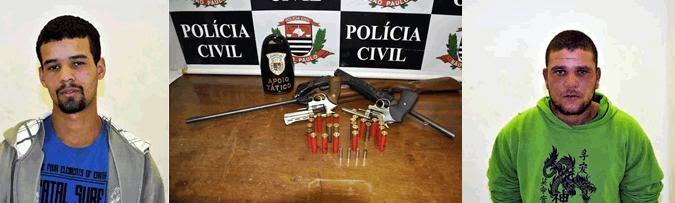 Ação conjunta DIG e Guarda Municipal de Jundiaí detém dois indivíduos e localiza armas e munição