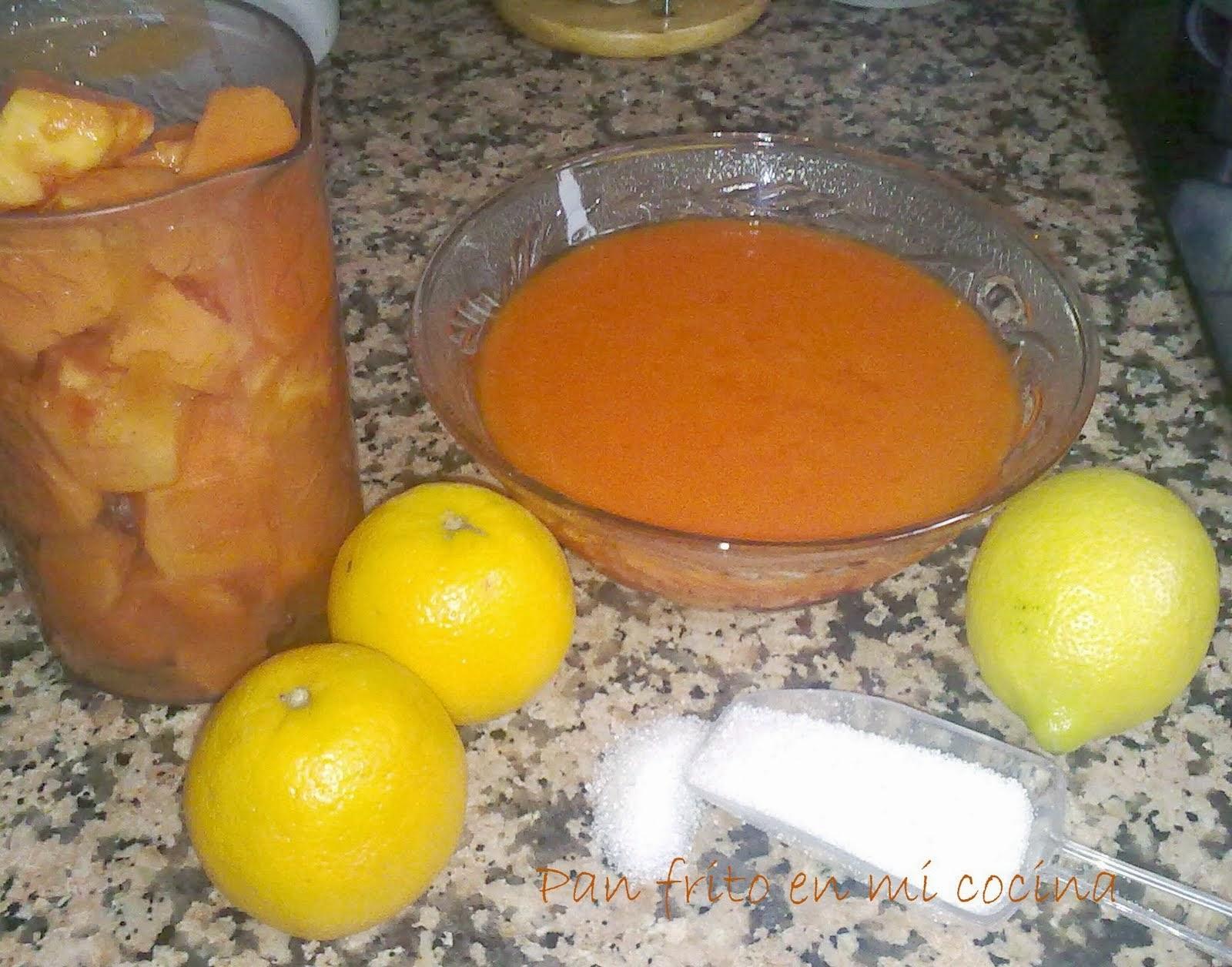 Mermelada de Papaya y Naranja