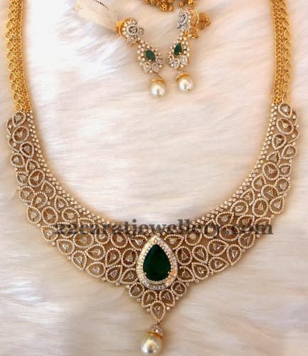 Diamond Emerald Dazzling Necklace
