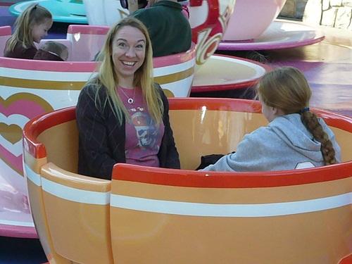 teacups Disneyland Fantasyland dizzy spin