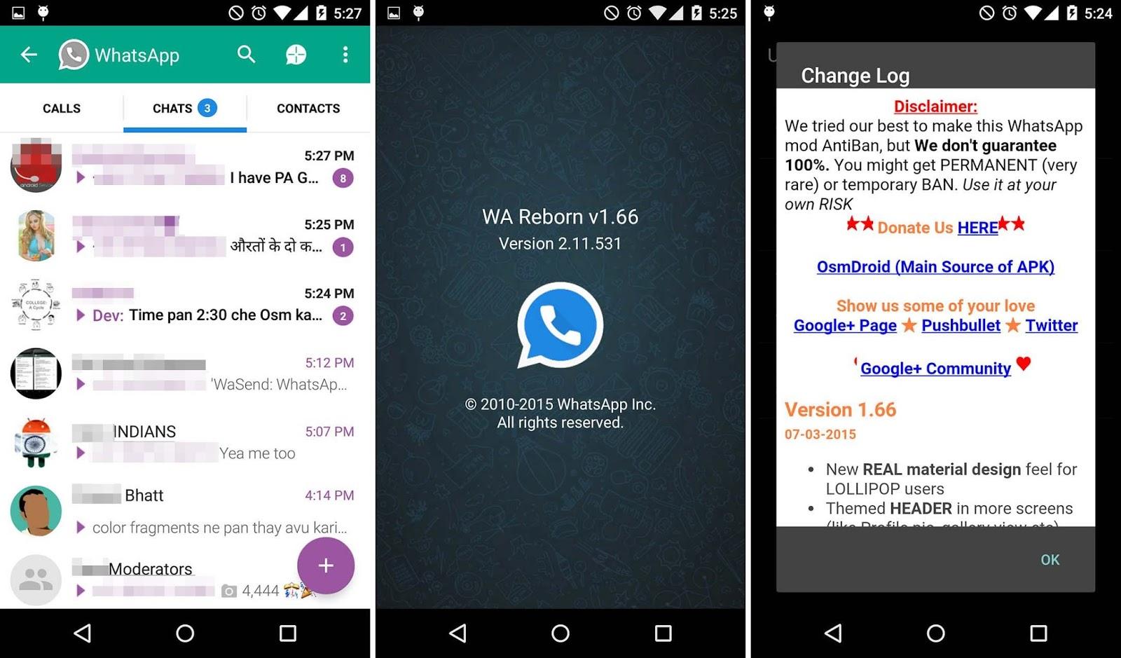 WhatsApp Reborn 1.69 AntiBan No Ban Material Design Apk Screenshot