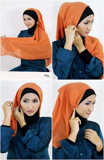 Tutorial hijab kombinasi unik 3 Tutorial Hijab Kombinasi Unik Untuk ke Pesta