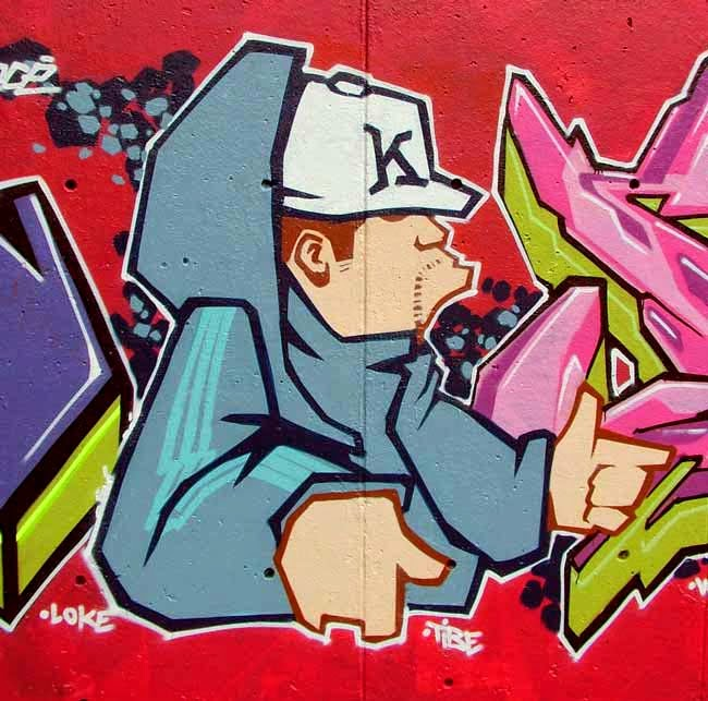 graffiti cartoon face
