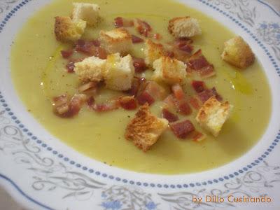 Zuppa di porri con pancetta