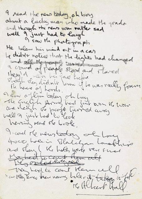beatles lyrics quotes. Life Lyrics (Handwritten)