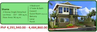Shama 2-Storey Single Detached 4M 3BR 3TB Carport Balcony Lanai Porch House and Lot For Sale Liloan Cebu