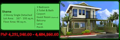 Shama 2-Storey Single Detached 4M 3BR 3TB Carport Balcony Lanai Porch House and Lot For Sale Liloan Cebu