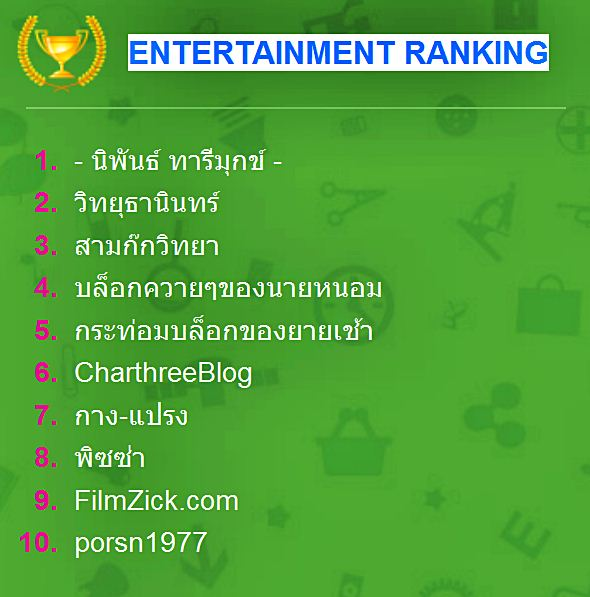Entertainment Blog Nominees (Music /Movie /เรื่องขำ ขำ / หนังสือ)