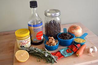 Lentil loaf ingredients