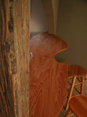 unique untraditional carved oak wood bar top