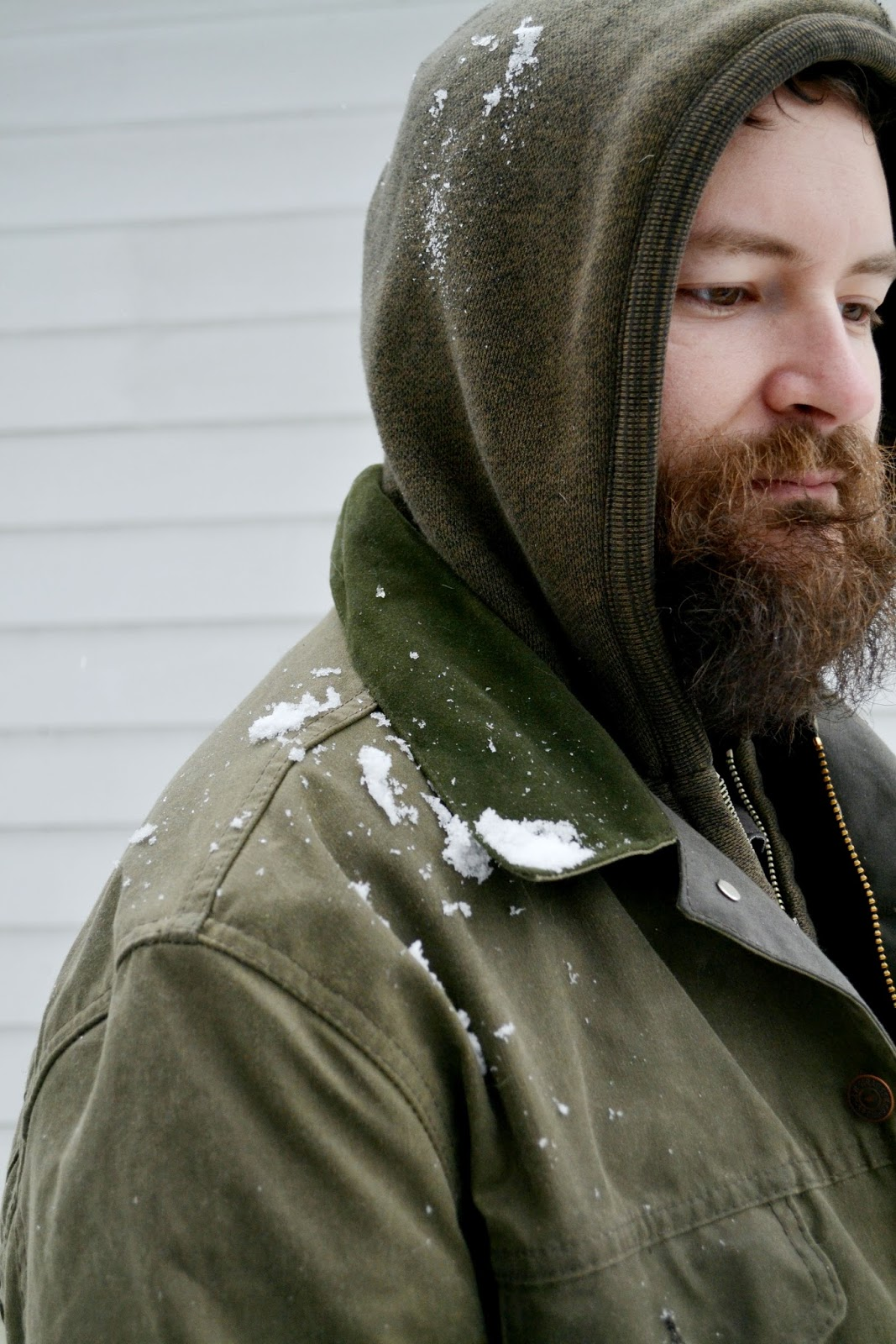 Levi's Filson, coat, beard, winter