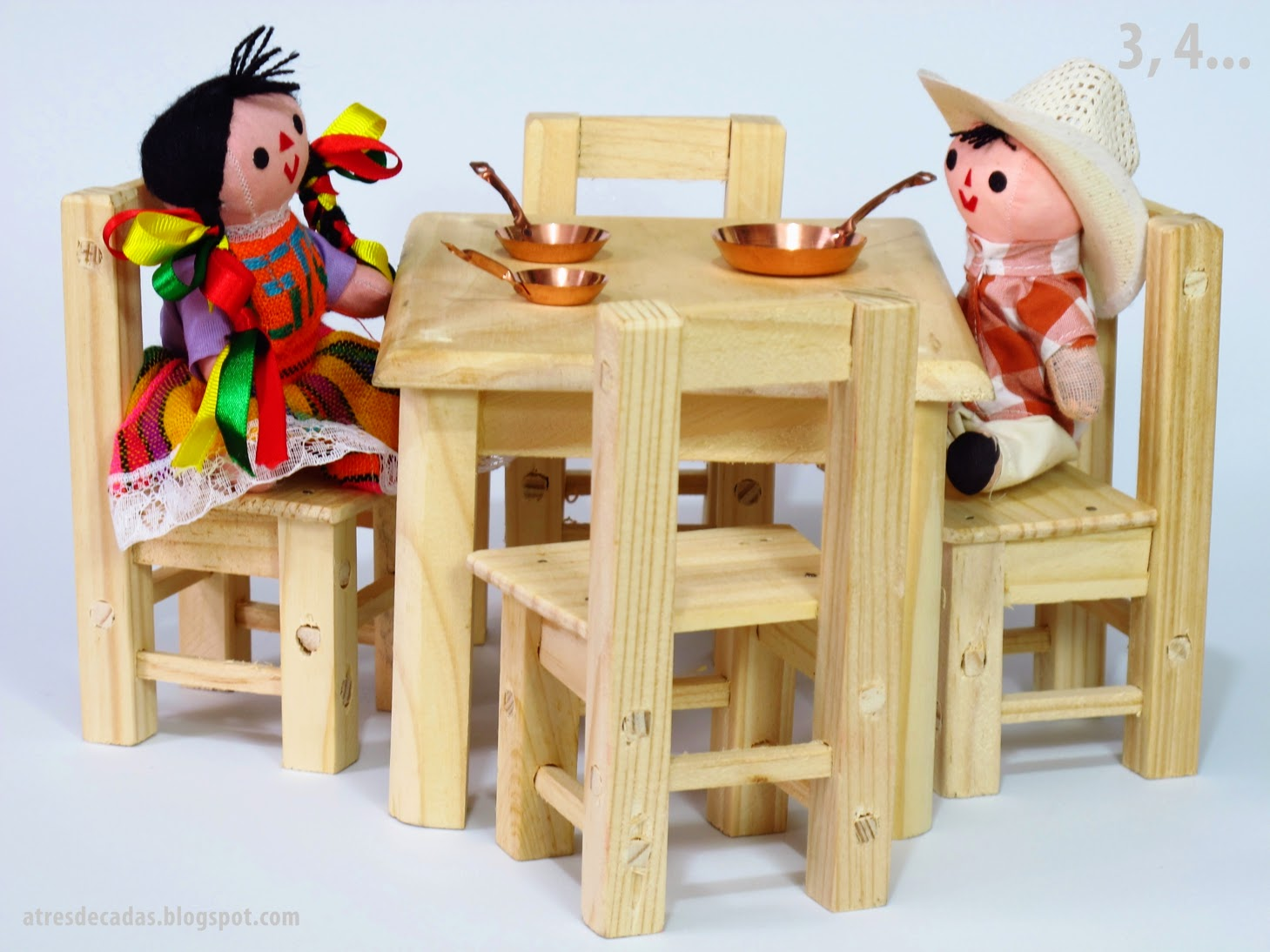 tressiete muebles de madera de juguete de tlacolula