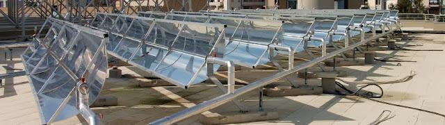 نظام التتبع الشمسى للسخان الشمسي ذات مجمع القطع المكافئ