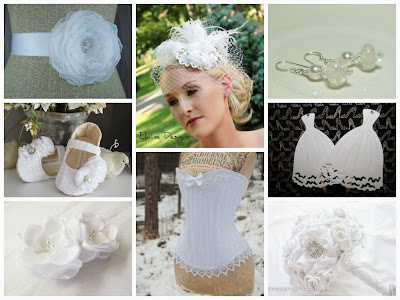 White Wedding Inspiration Board, curated by Sugarplum Garters