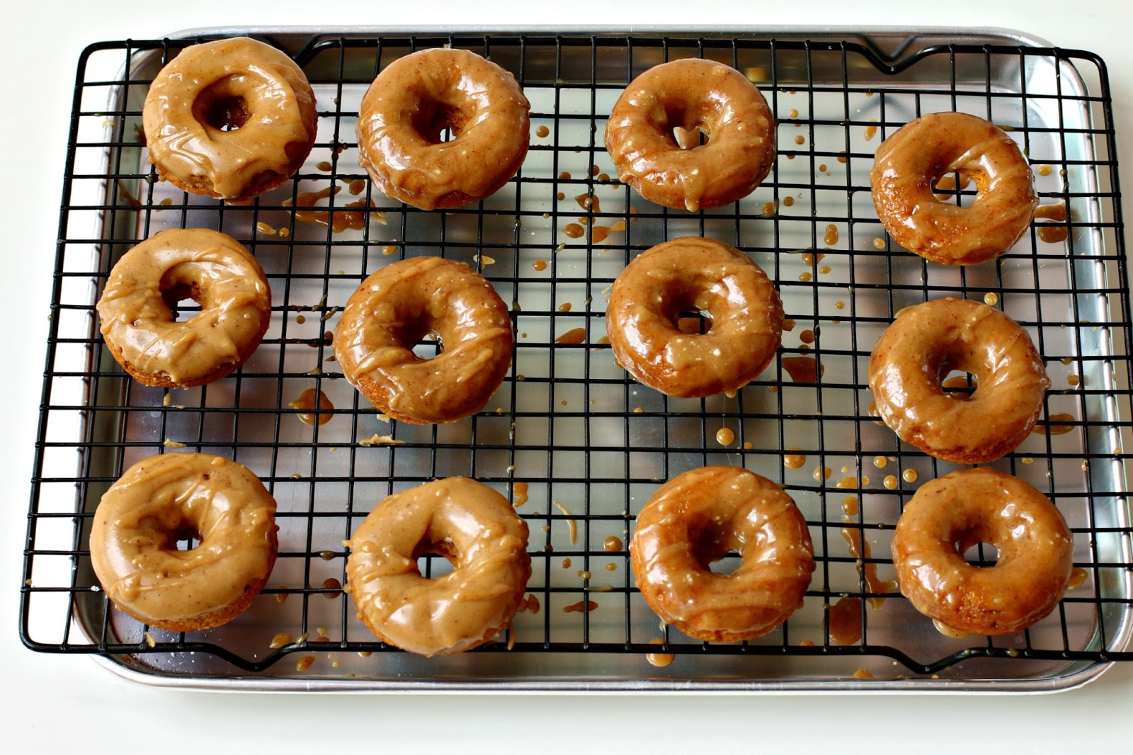 ... Baked Mini Buttermilk Pumpkin Doughnuts with Brown Butter-Maple Glaze