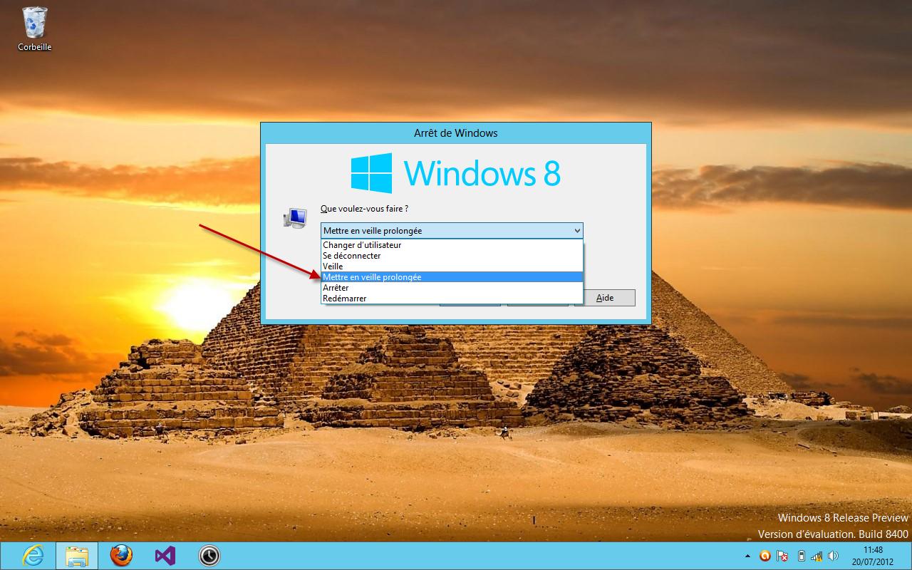 Verrouiller Le Bureau Xp : Club windows 8: activer la mise en veille prolongée du bouton d