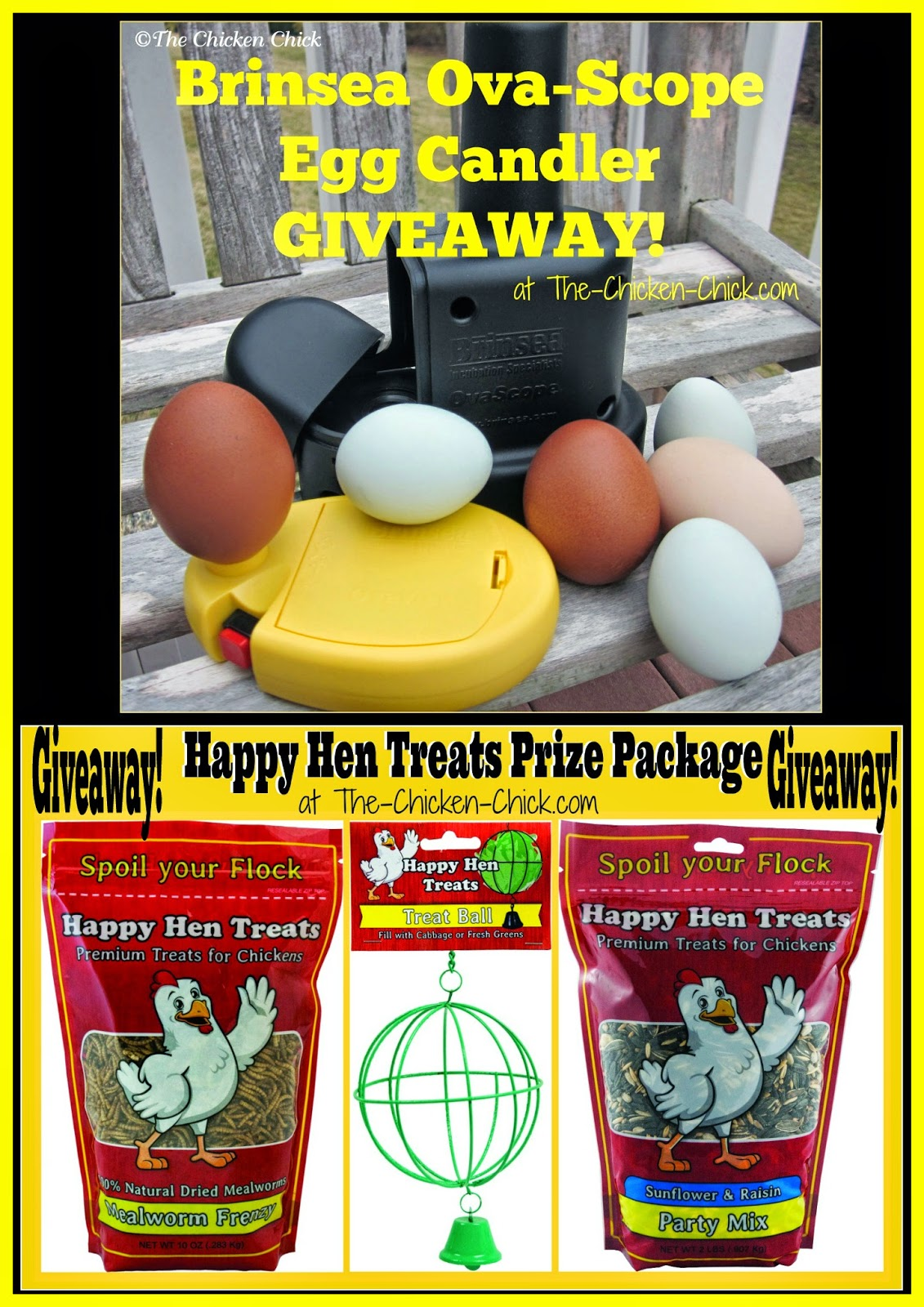 Brinsea OvaScope Giveaway & Happy Hen Treats Giveaway