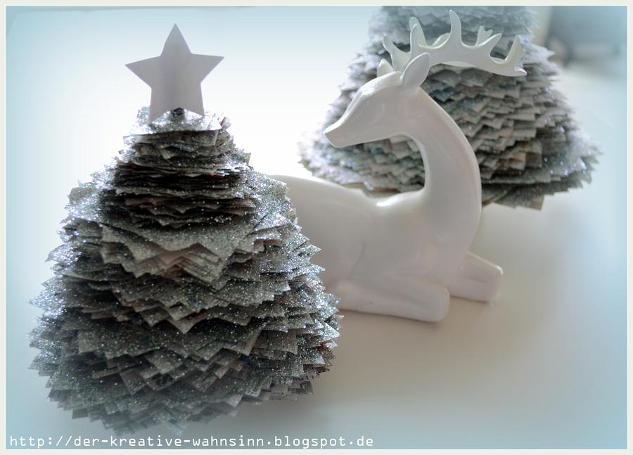 der kreative wahnsinn die erste weihnachtsdeko aus altpapier. Black Bedroom Furniture Sets. Home Design Ideas