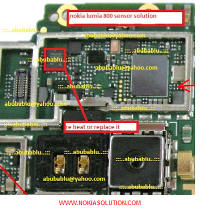 Nokia Lumia 800 Sensor Solution Shown in the Image.